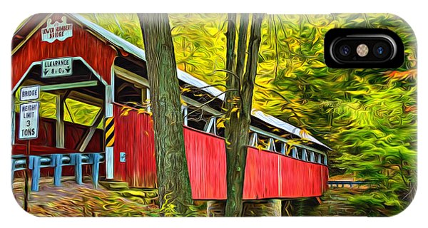 Somerset County iPhone Case - Lower Humbert Covered Bridge - Paint by Steve Harrington