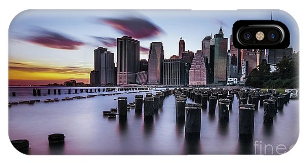 Lower Manhattan Purple Sunset IPhone Case