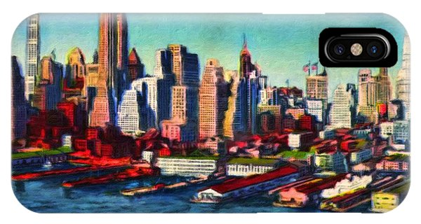 Lower Manhattan Skyline New York City IPhone Case