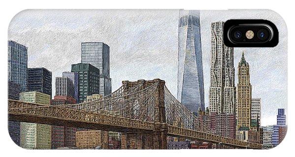 Lower Manhattan Skyline 2 IPhone Case