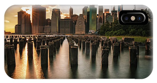 Lower Manhattan Sunset Twinkle IPhone Case