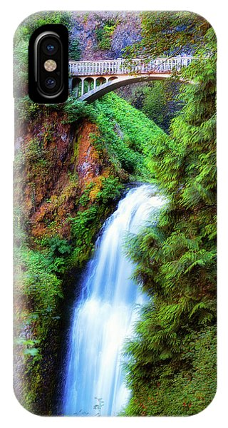 Lower Multnomah Waterfall In The Columbia River Gorge IPhone Case
