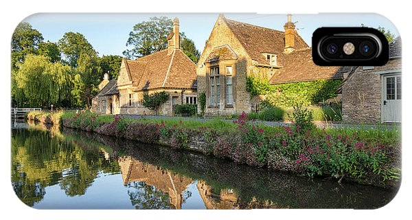 English Village iPhone Case - Lower Slaughter Summer Evening by Tim Gainey