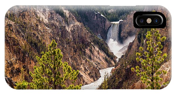 Yellowstone National Park iPhone Case - Lower Yellowstone Canyon Falls 5 - Yellowstone National Park Wyoming by Brian Harig