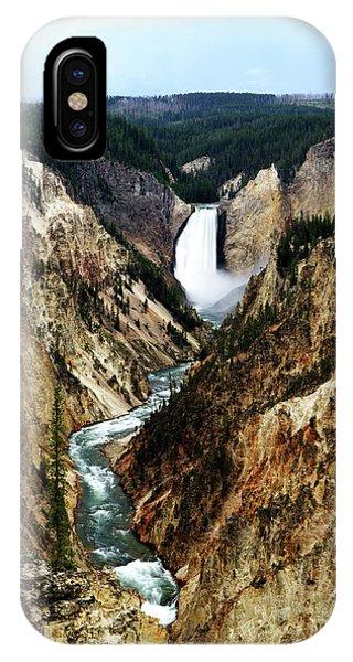 Lower Yellowstone Falls IPhone Case