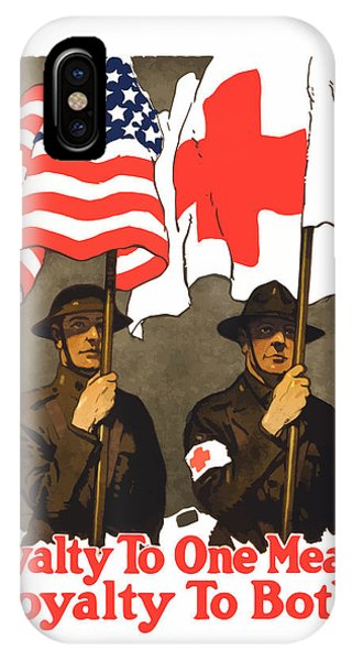 Cross iPhone Case - Loyalty To One Means Loyalty To Both by War Is Hell Store