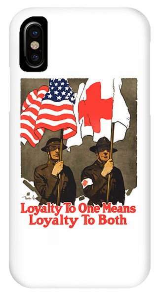 Cross iPhone X Case - Loyalty To One Means Loyalty To Both by War Is Hell Store