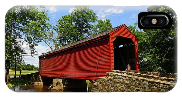 Loys Station Covered Bridge Frederick County Maryland IPhone Case