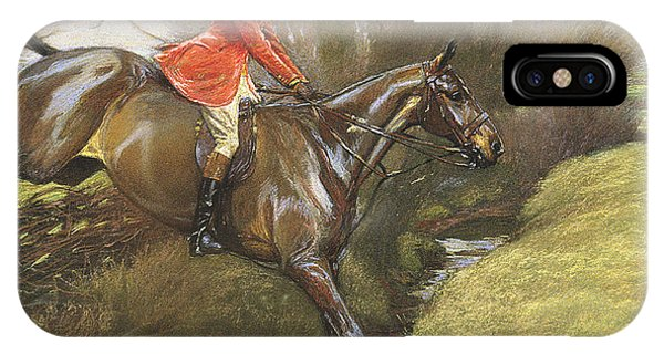 Lt Col Ted Lyon Jumping A Hedge IPhone Case