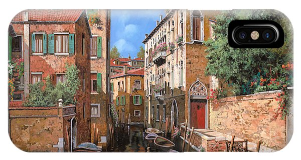 Orange Sunset iPhone Case - Luci A Venezia by Guido Borelli