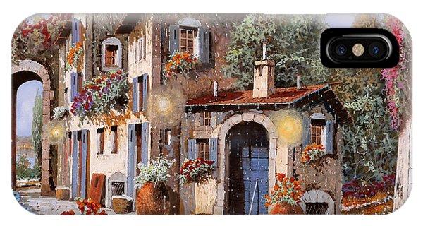 Village iPhone Case - Luci All'entrata by Guido Borelli