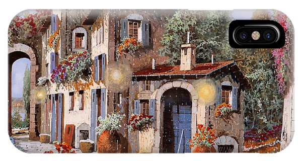 Middle iPhone Case - Luci All'entrata by Guido Borelli