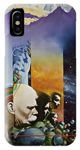 IPhone Case featuring the painting Lucid Dimensions by Cliff Spohn