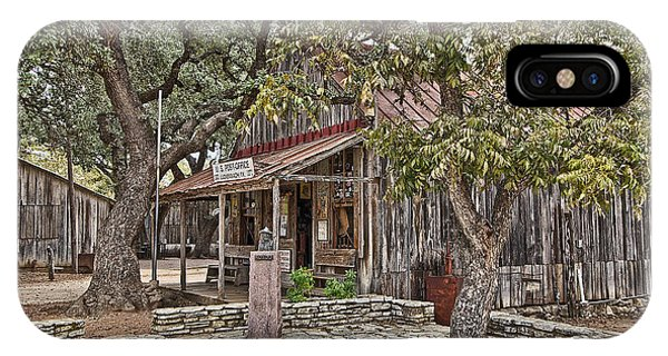 Luckenbach Post Office And General Store_3 IPhone Case