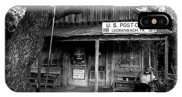 Luckenbach Texas IPhone Case