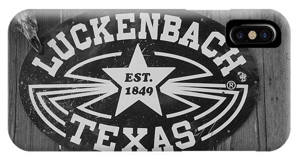 Luckenbach Texas Est. 1849 Sign IPhone Case