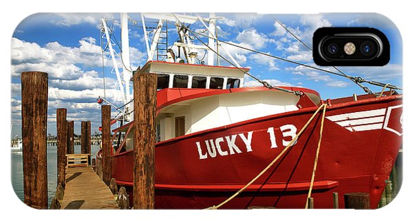 Lucky 13 At Long Beach Island IPhone Case