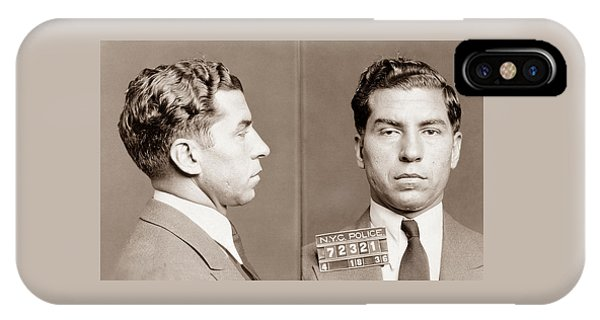 Lucky Luciano Mugshot IPhone Case