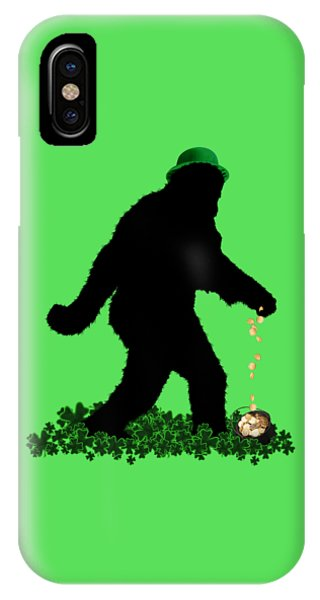 St. Patricks Day iPhone Case - Lucky Sasquatch by Gravityx9  Designs