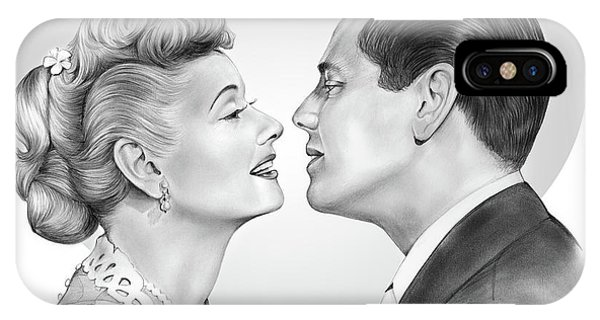 Valentine iPhone Case - Lucy And Desi by Greg Joens