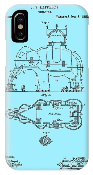 Lucy The Elephant Patent 1882 IPhone Case