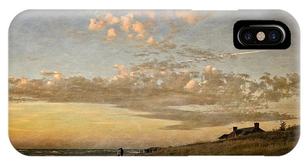 IPhone Case featuring the photograph Ludington State Park Beach House At Sunset by Michelle Calkins
