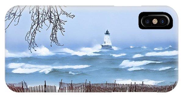 Ludington Winter Shore  IPhone Case