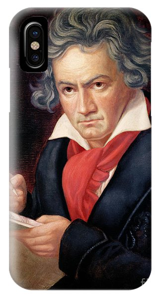Ludwig Van Beethoven Composing His Missa Solemnis IPhone Case