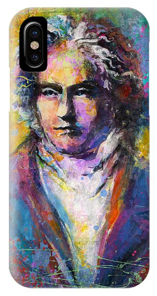 Ludwig Van Beethoven Portrait Musical Pop Art Painting Print IPhone Case