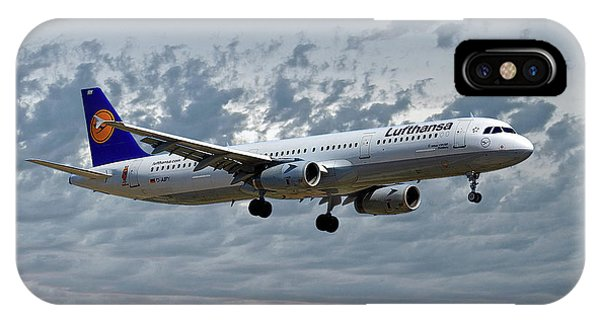 Jet iPhone X / XS Case - Lufthansa Airbus A321-131 by Smart Aviation