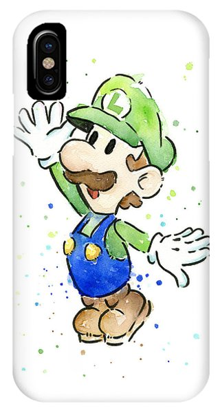 Decor iPhone Case - Luigi Watercolor by Olga Shvartsur