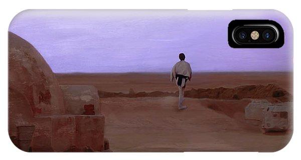 Double iPhone Case - Luke Skywalker Tatooine Sunset by Mitch Boyce