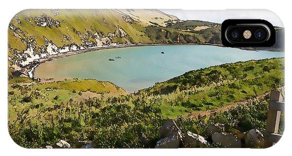 Dorset iPhone Case - Lulworth Cove Dorset England Uk Top Tourist Attraction On English Jurassic Coast Illustration by Michael Charles