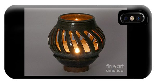 Hand Thrown Pottery iPhone Case - Luminaire by Alan M Thwaites