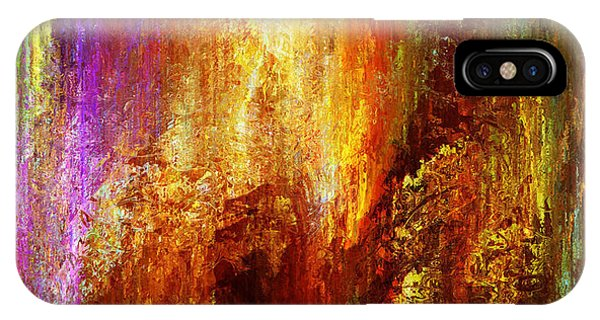 IPhone Case featuring the painting Luminous - Abstract Art by Jaison Cianelli