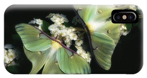 Luna Moths IPhone Case