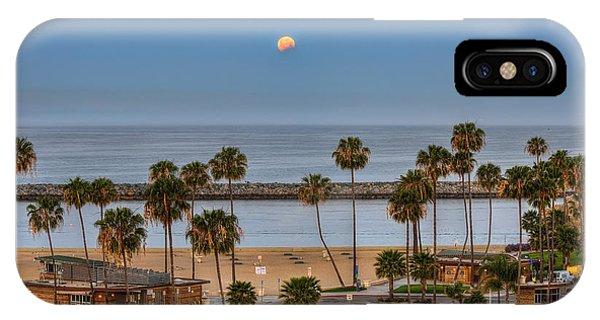 Lunar Eclipse Moonset IPhone Case