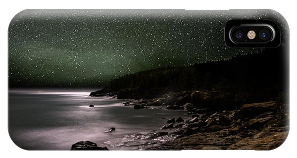 Great Lakes iPhone Case - Lunar Eclipse Over Great Head by Brent L Ander
