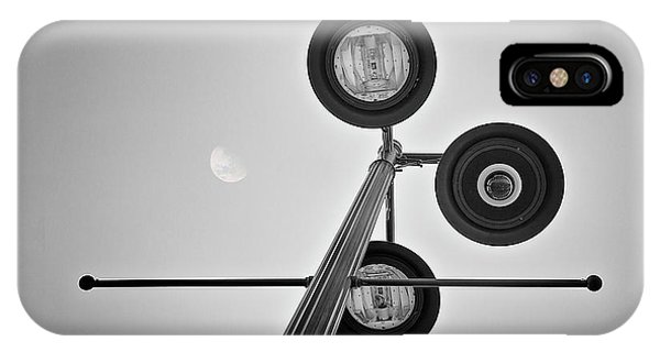 Full Moon iPhone Case - Lunar Lamp In Black And White by Tom Mc Nemar
