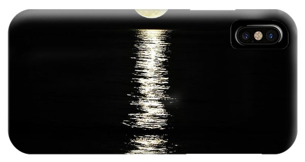 Super Moon iPhone Case - Lunar Lane by Al Powell Photography USA
