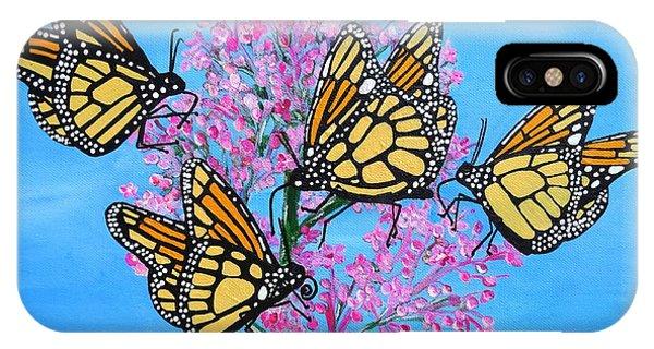 Butterfly Feeding Frenzy IPhone Case