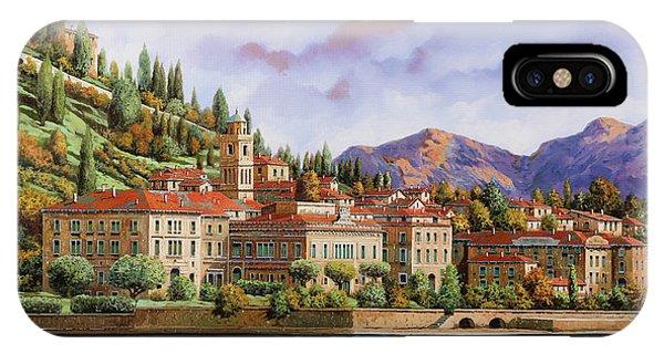 Lake iPhone Case - lungolago di Bellagio by Guido Borelli