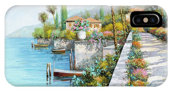 Italy iPhone Case - Lungolago by Guido Borelli