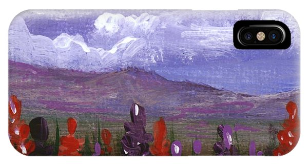 IPhone Case featuring the painting Lupine Land #3 by Anastasiya Malakhova