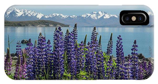 Lupines At Lake Tekapo IPhone Case