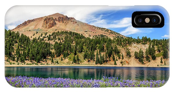 Lupines Lake And Lassen IPhone Case