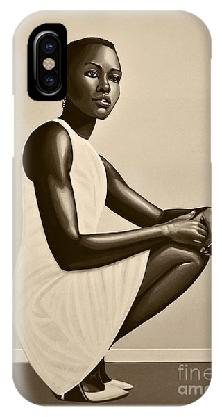 Lupita iPhone Case - Lupita Nyong'o by Paul Meijering