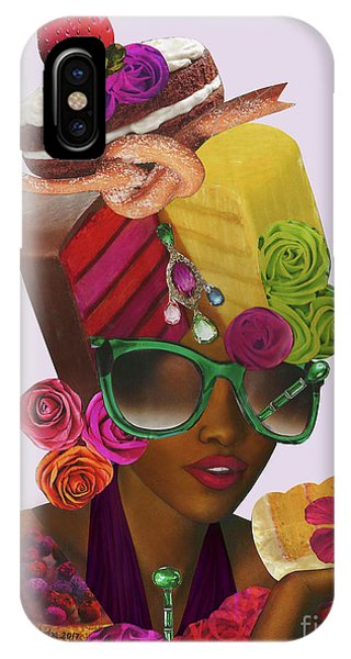 Lupita iPhone Case - Lupita Wears Her Cake And Eats It Too by Mucha Kachidza