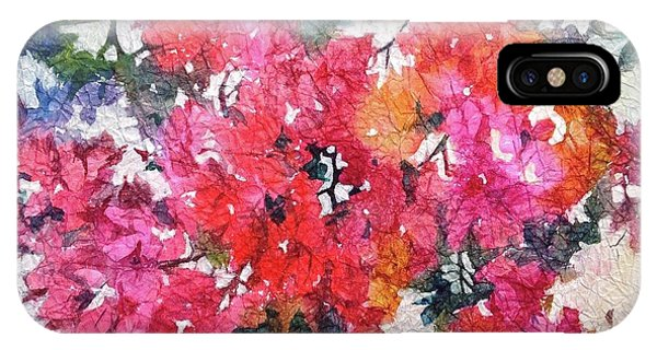 IPhone Case featuring the painting Luscious Bougainvillea by Michelle Abrams