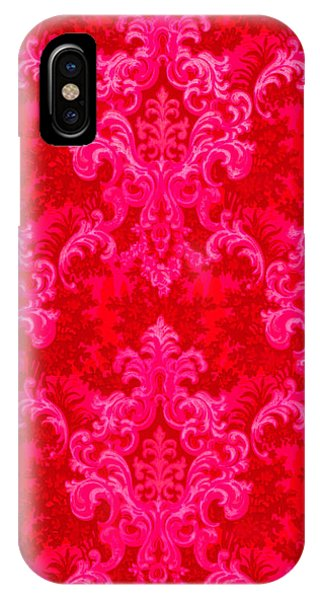 Swanky iPhone Case - Luscious Neo Baroque Hot Pink Bubblegum Damask by Peter Ogden Gallery